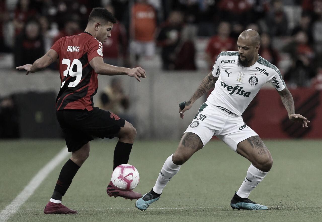 Após resultados ruins na rodada passada, Athletico e Palmeiras se enfrentam pelo Brasileirão