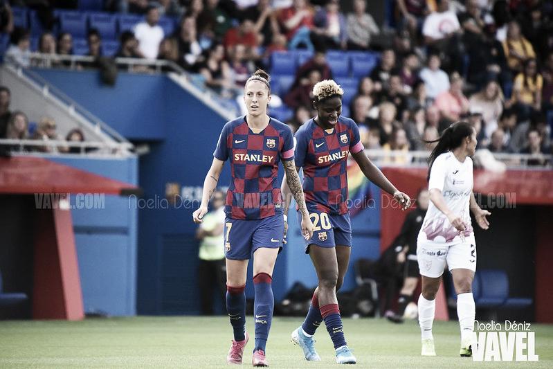 Jennifer Hermoso y Asisat Oshoala, la dupla encargada del gol en el Femení
