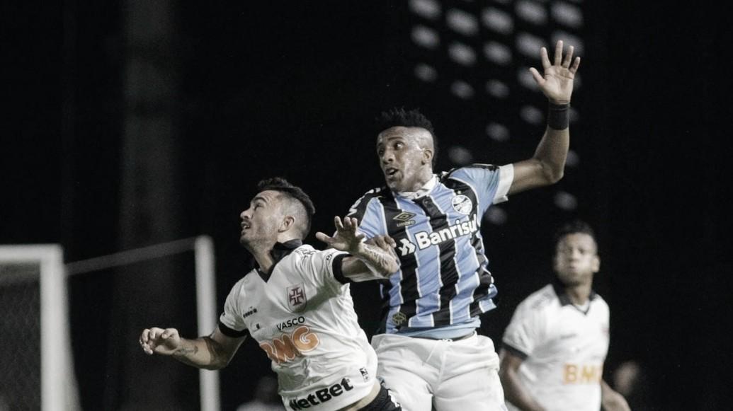 Embalado Vasco tem contestado Grêmio pela frente no São Januário