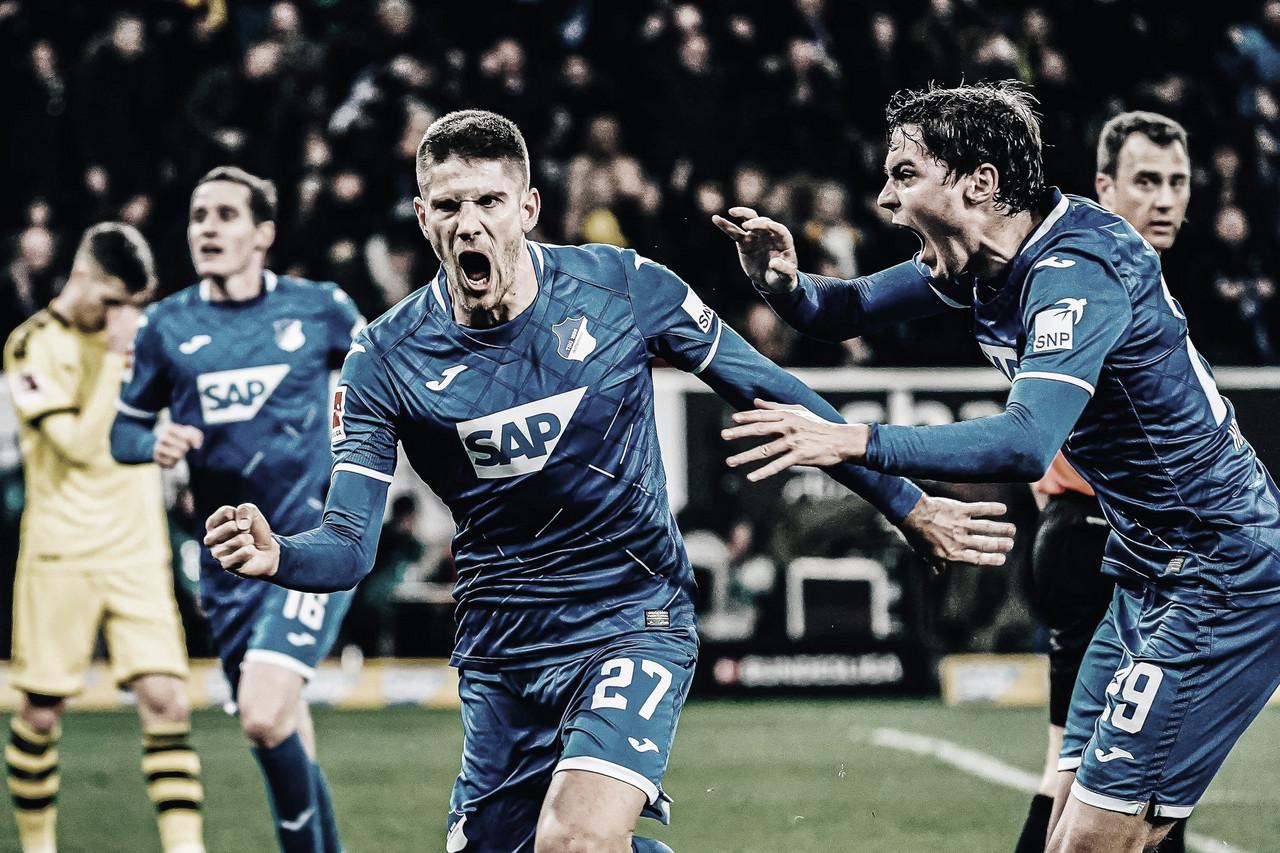 Kramaric decide, e Hoffenheim ganha de virada do Borussia Dortmund pela Bundesliga
