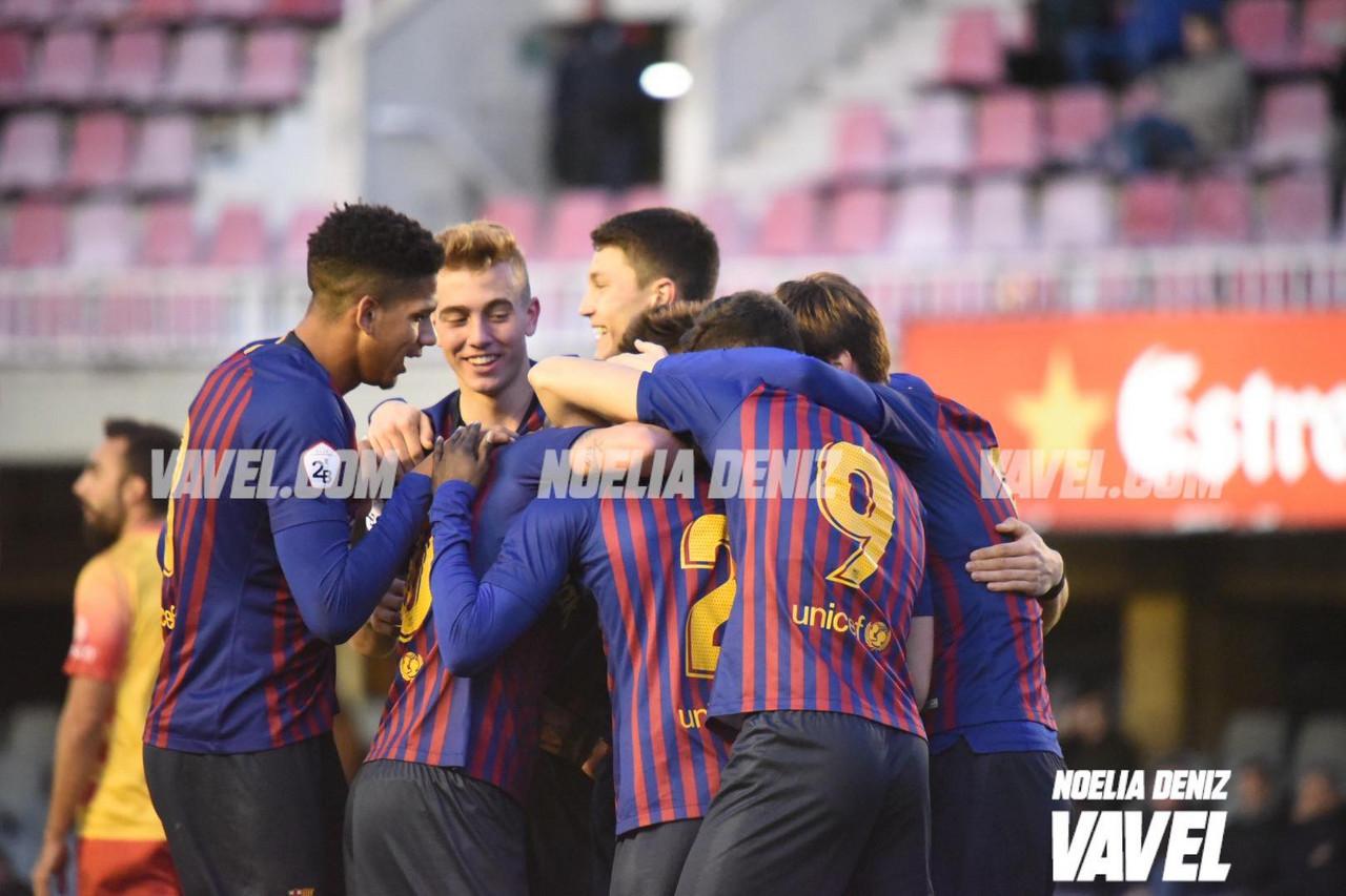 Wagué y Carles Pérez deciden un igualado Barça B - Alcoyano
