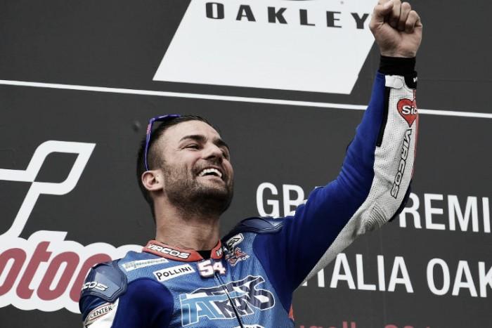 """Moto2, Pasini: """"Sic nel cuore, ho vinto anche per lui"""""""