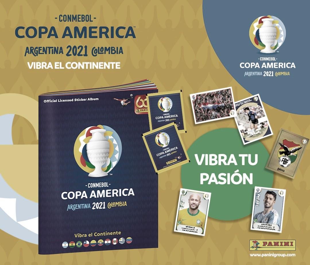 Llegó el álbum Panini Copa América Colombia Argentina 2021