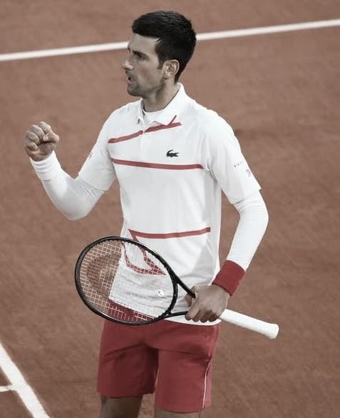 Djokovic está lidiando con molestias de cuello y hombro