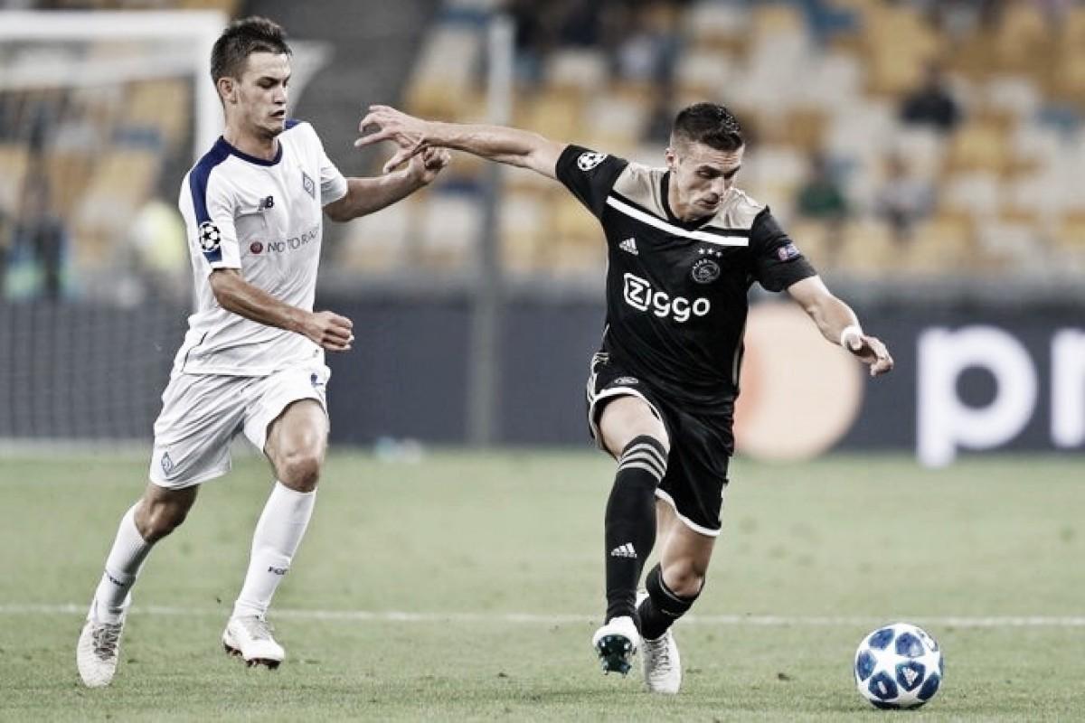 Ajax passa pelo Dínamo Kiev e volta à fase de grupos da UCL após três temporadas