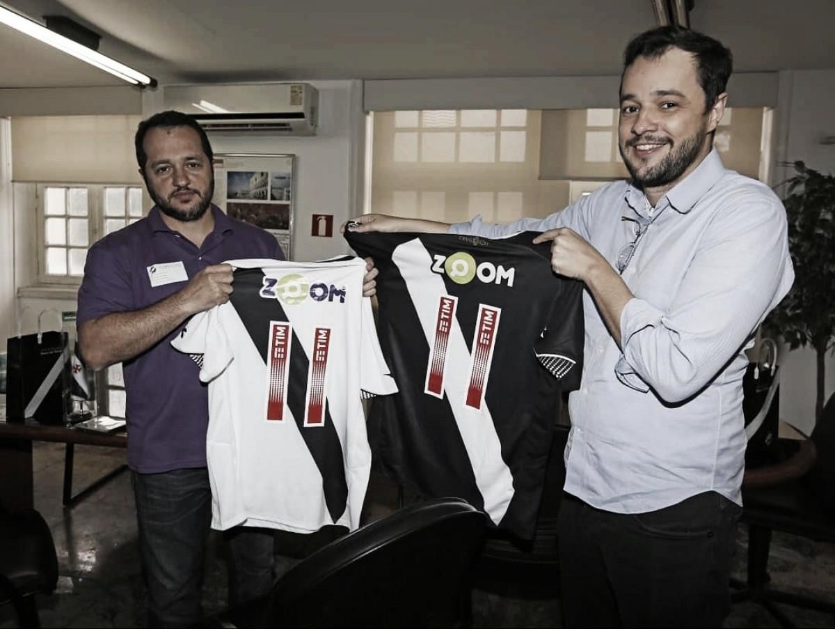 Vasco anuncia 'Zoom' como patrocinador até o fim da temporada