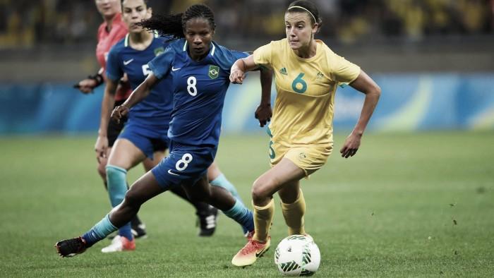 Brasil bate Austrália nos pênaltis e vai às semifinais no futebol feminino