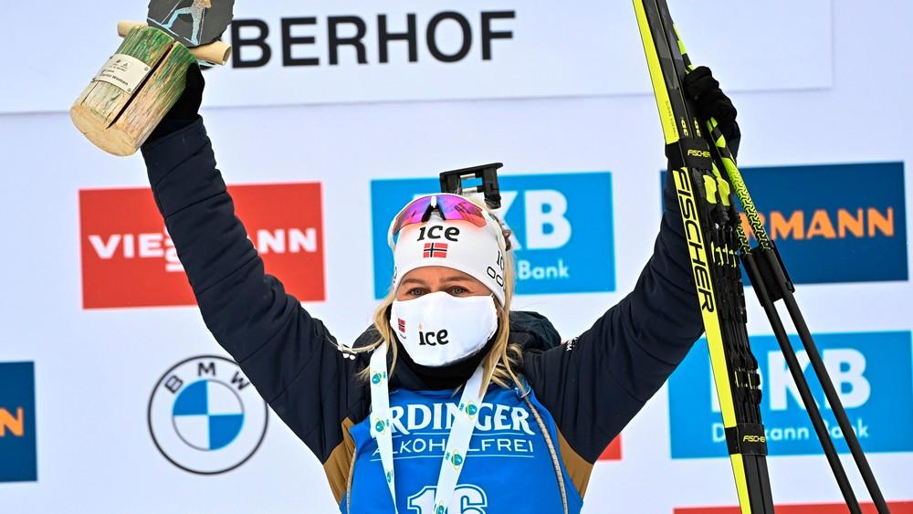 Tiril Eckhoff s'impose sur ce sprint de Oberhof. (Crédits: AFP)