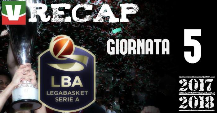Legabasket: risultati e tabellini della quinta giornata