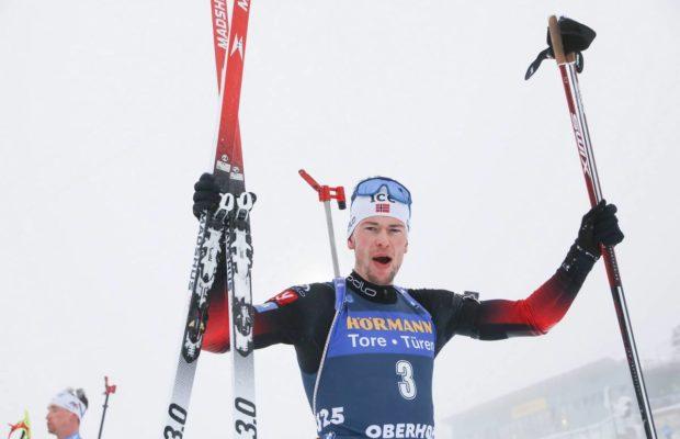 Sturla Holm Laegreid s'impose sur la poursuite de Oberhof.