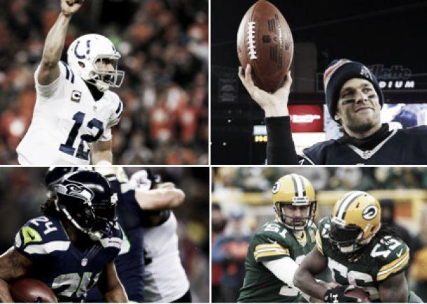 Los cuatro aspirantes al Súper Bowl XLIX