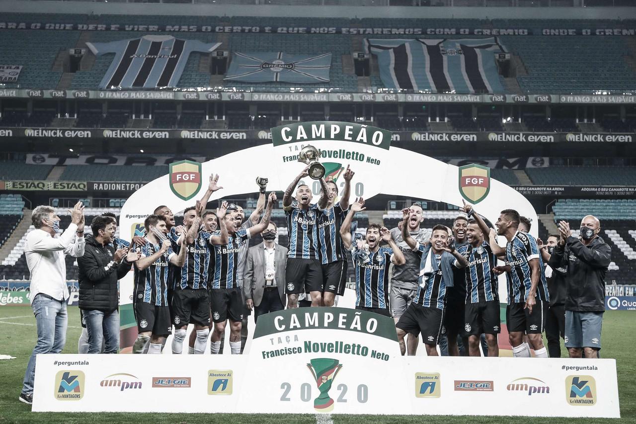Grêmio vence Gre-Nal, conquista segundo turno do Gaúcho e encara final contra Caxias
