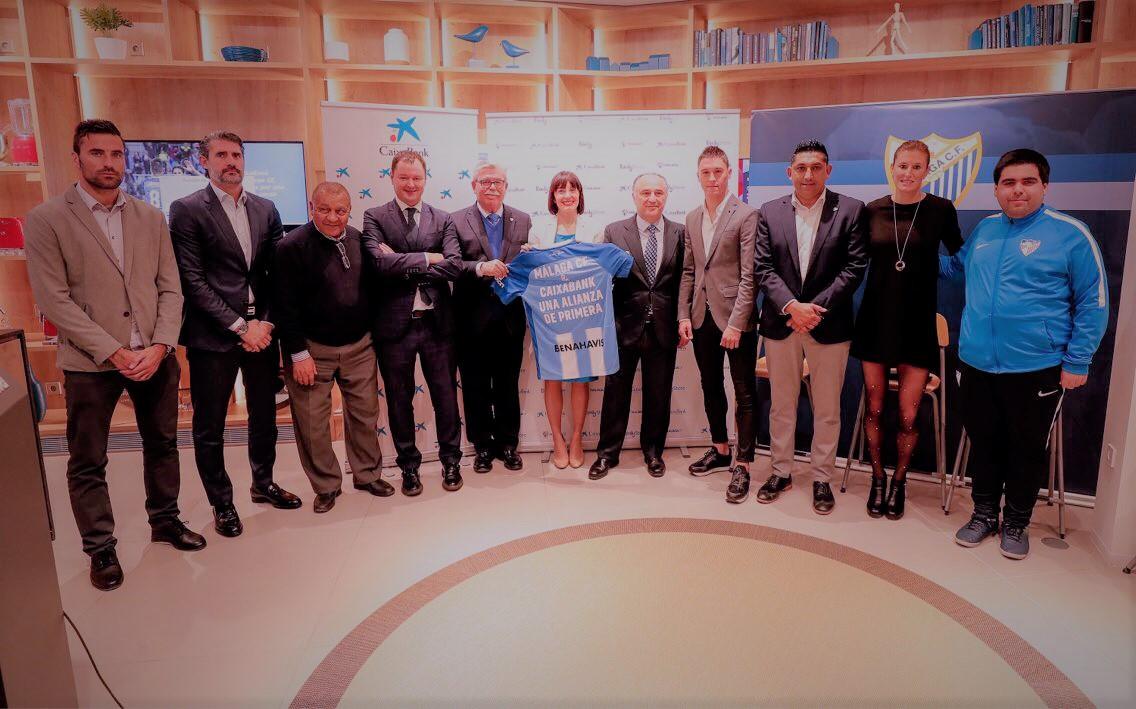El Málaga CF y CaixaBank firman una alianza de primera