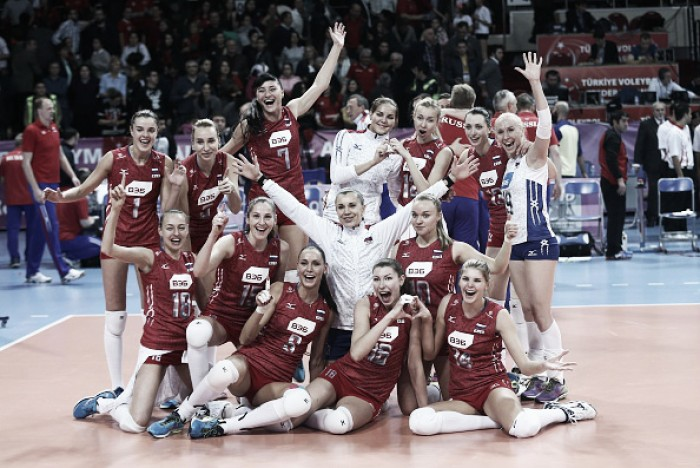 Rumo à Olimpíada: seleção feminina de Vôlei da Rússia