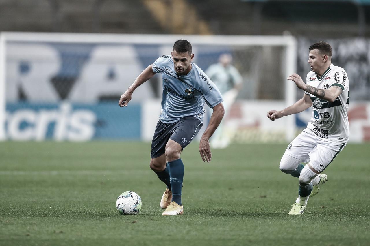 Confronto sulista: Coritiba tenta se recuperar em casa diante do Grêmio