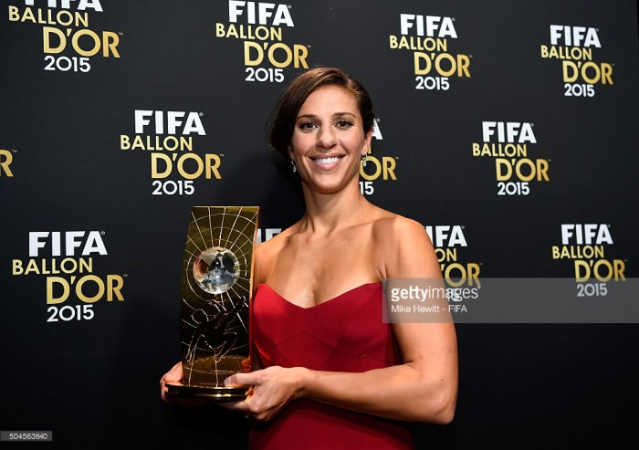 FIFA Best Women's Player of the Year (2016) Shortlist revealed