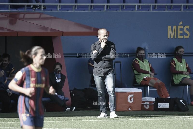 Lluís Cortés en un partido durante la presente temporada | Foto de Noelia Déniz, VAVEL