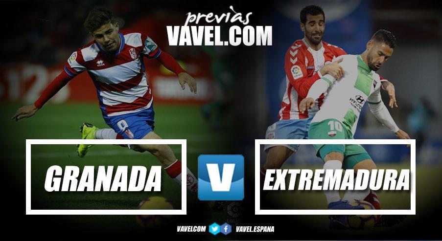 Previa Granada CF - Extremadura: los extremeños miden la solidez del líder de Segunda