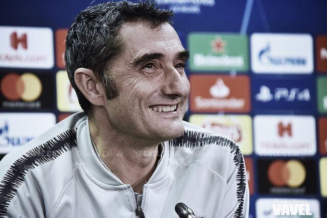 """Ernesto Valverde: """"Estamos un poco más cerca, pero tenemos que seguir"""""""
