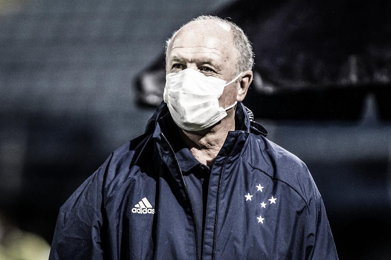 """Felipão analisa empate como desatenção do Cruzeiro:""""Vacilo da nossa parte"""""""