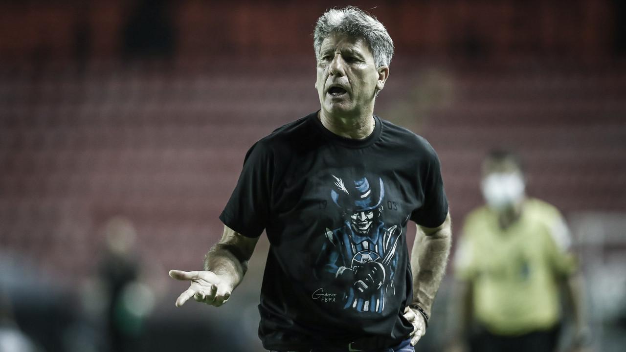 Renato Portaluppi cita cansaço ao falar de empate do Grêmio