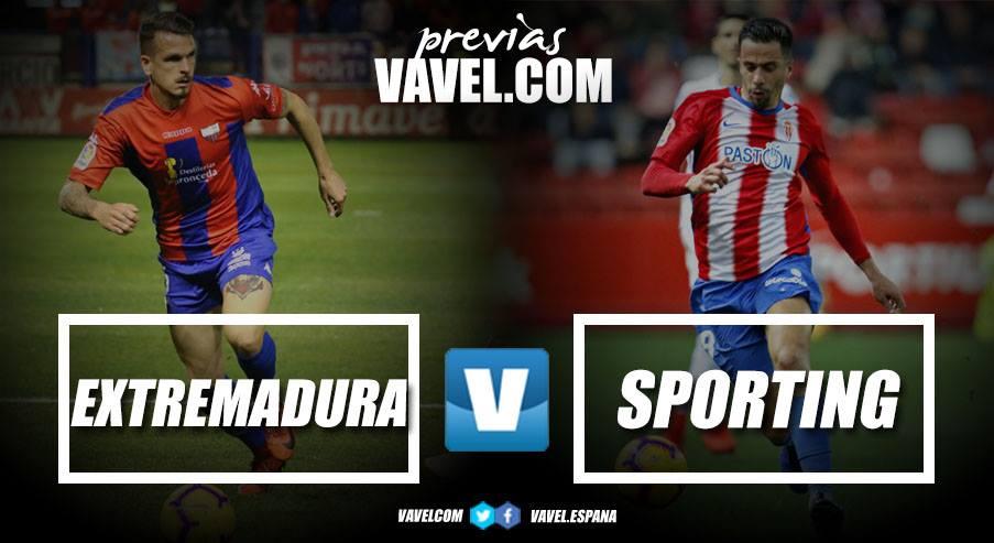 Previa Extremadura UD - Real Sporting: seguir persiguiendo objetivos de tres en tres