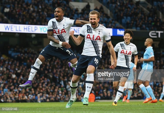 Spurs battle back from two goals behind to earn a point in a brilliant game at the Etihad Stadium
