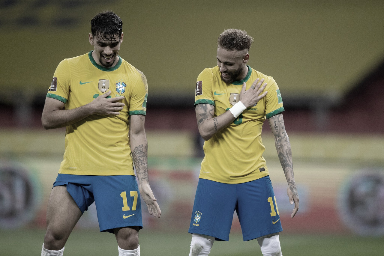 Com gols de Richarlison e Neymar, Brasil vence Equador e se isola na liderança das Eliminatórias