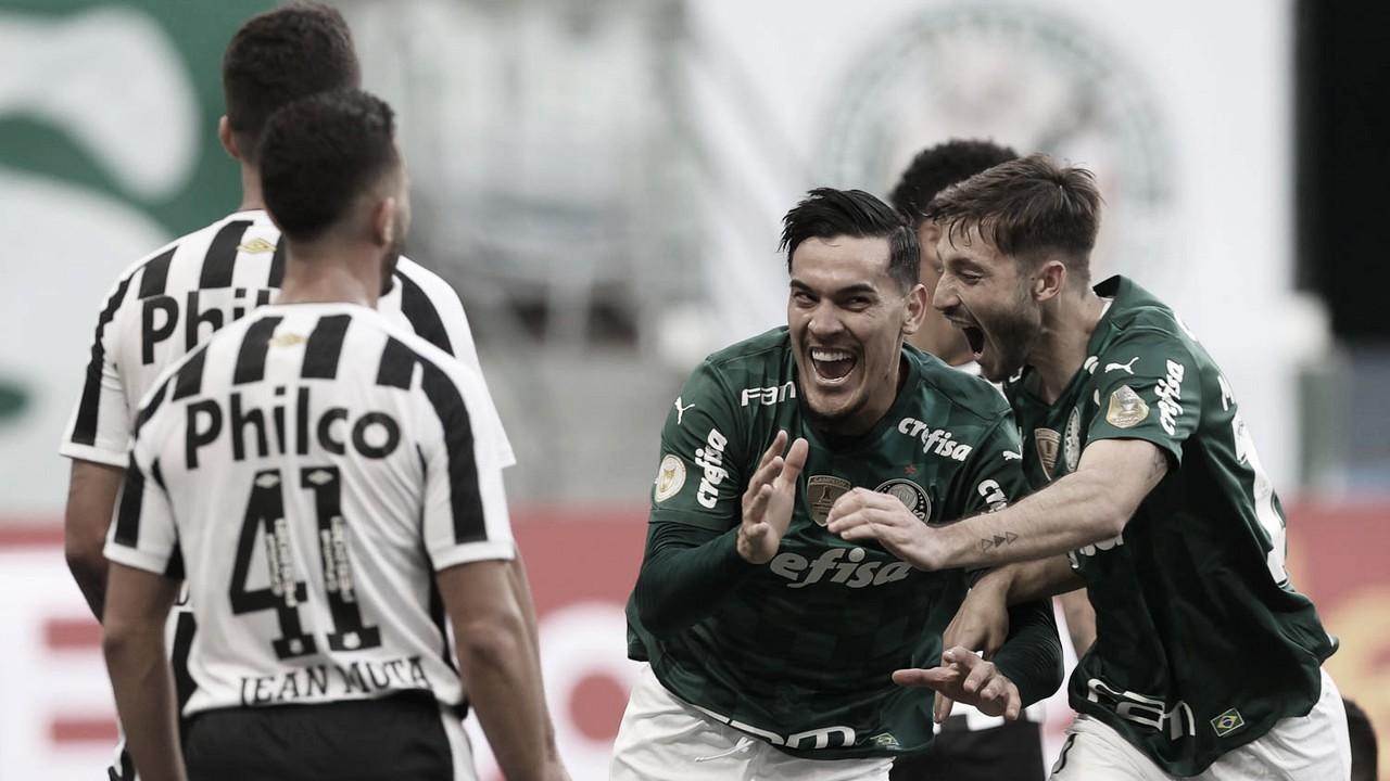 Em jogo movimentado, Palmeiras derrota Santos e mantém liderança do Brasileirão