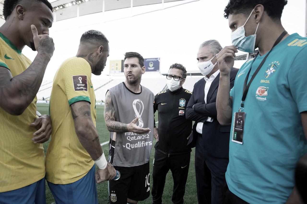 Agentes da Anvisa invadem campo e Brasil x Argentina é suspenso por questões sanitárias; entenda