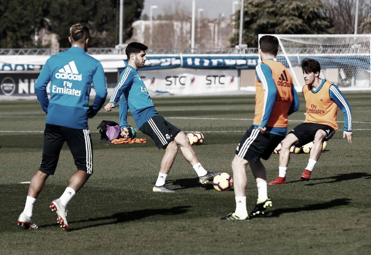 El Madrid vuelve a entrenarse pensando ya en el derbi