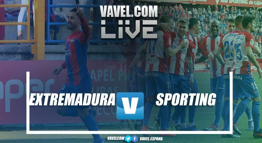 Resumen del Extremadura UD 0 vs 3 Sporting de Gijón en LaLiga 1|2|3 2019