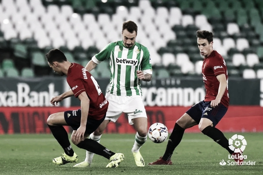 Joel y Borja frenan en seco a un Osasuna que mereció más (1-0)