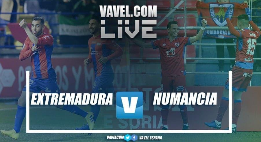 Resumen del Extremadura 0-1 Numancia en LaLiga 1 2 3