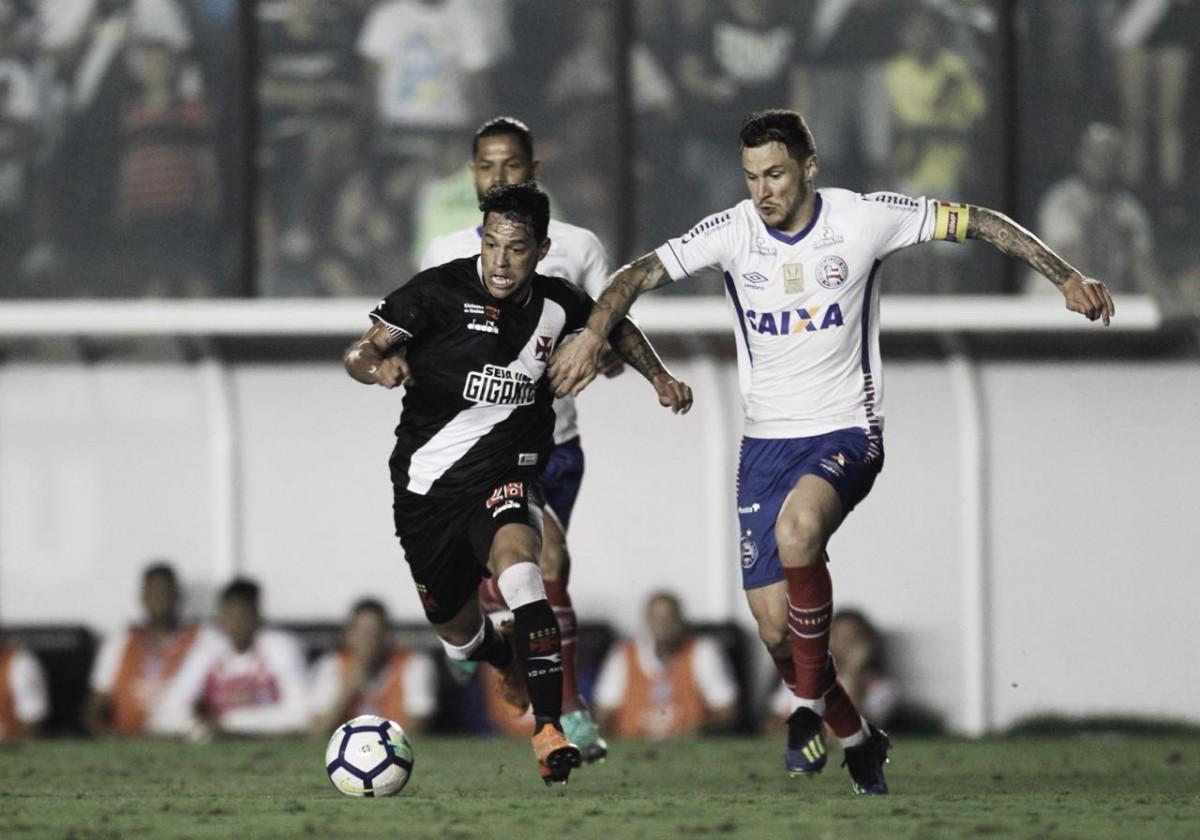 Vasco vence, mas Bahia segura vantagem e avança às quartas de final da Copa do Brasil