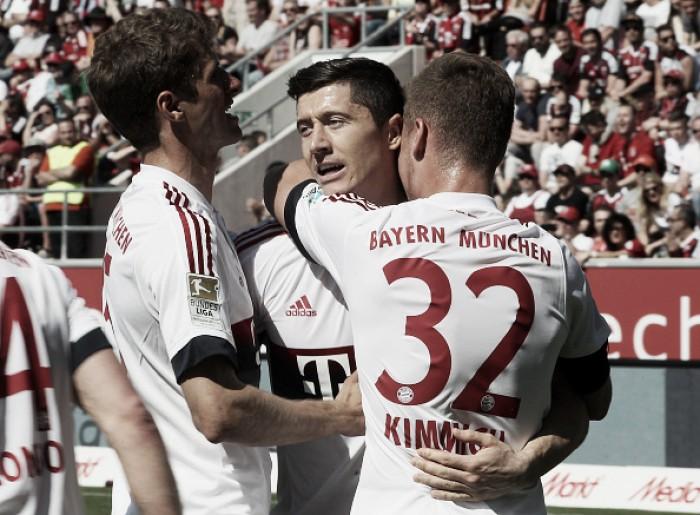 Bayern vence Ingolstadt com dois de Lewandowski e conquista tetracampeonato inédito
