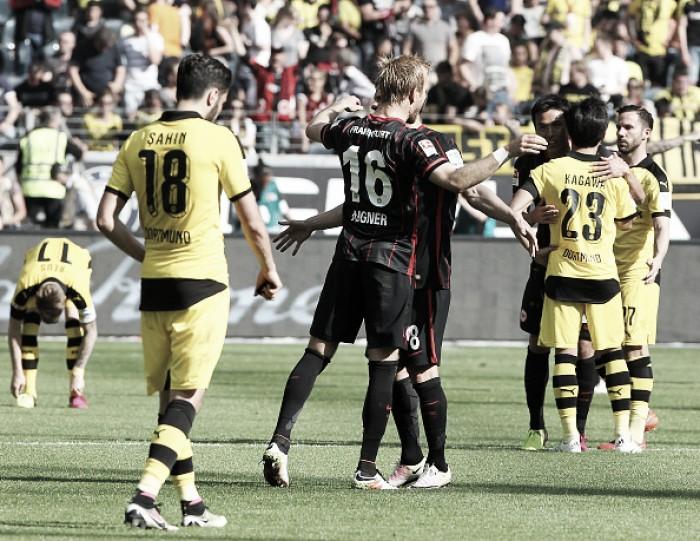 Dortmund é derrotado pelo Frankfurt e foca em vaga na Uefa Champions League