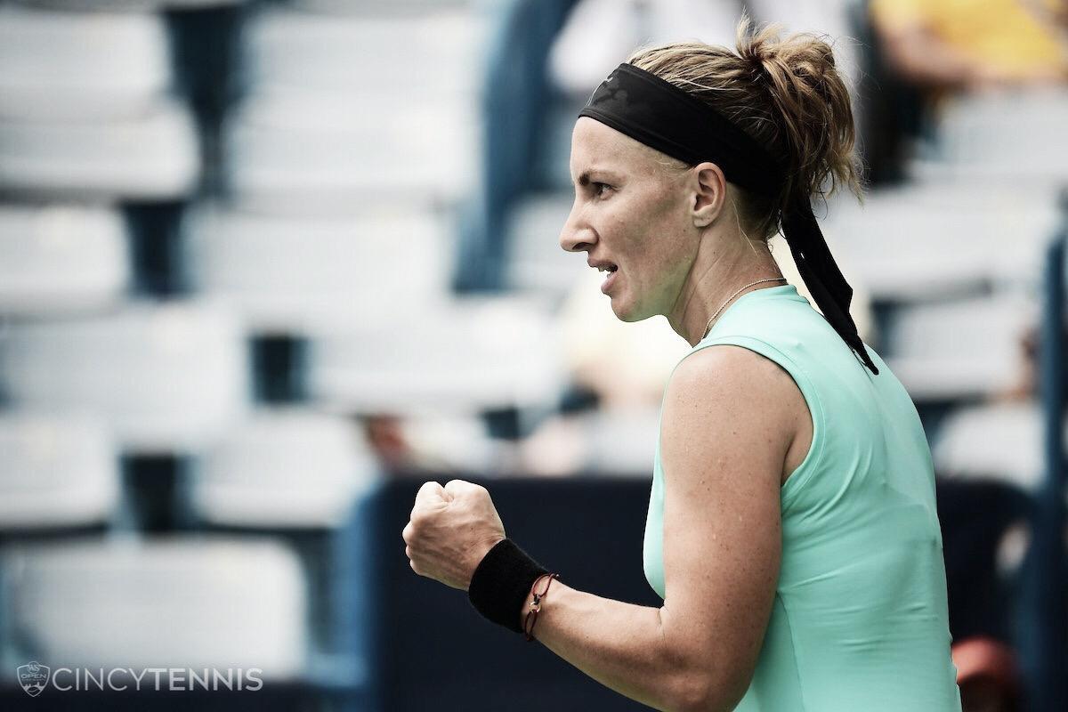 Kuznetsova surpreende Pliskova, vence de virada e vai à semifinal do WTA de Cincinnati
