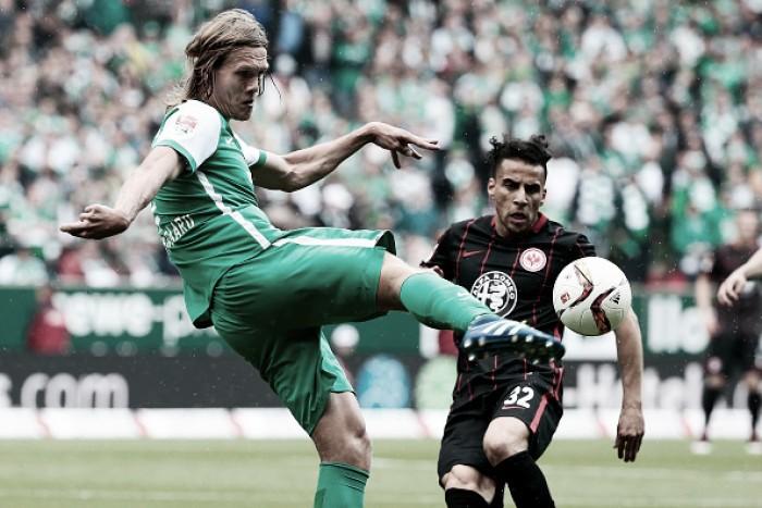 Djilobodji marca no fim, Werder Bremen vence Eintracht Frankfurt e permanece na Bundesliga
