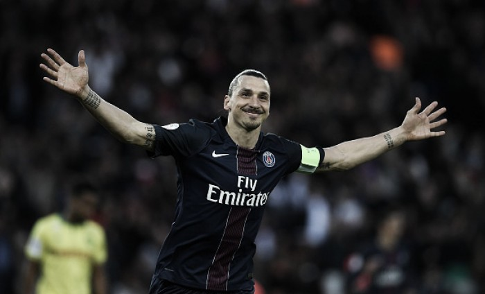 Ibrahimovic quebra recorde e comanda goleada do campeão PSG diante do Nantes