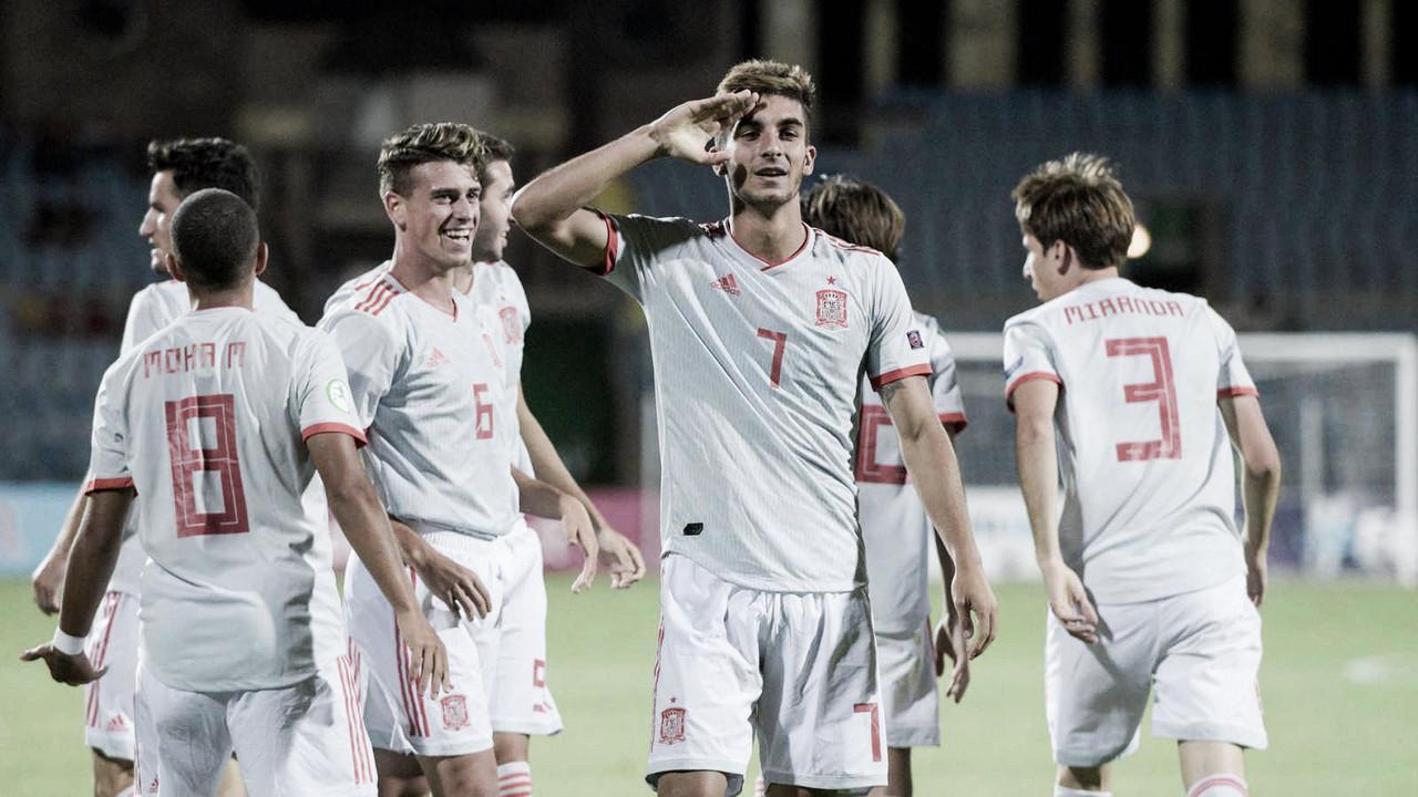 Portugal 0-2 España: Ferrán Torres lidera el octavo europeo sub-19