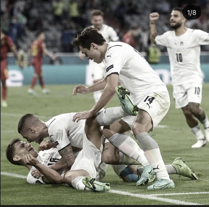 Bélgica - Italia: Puntuaciones de Italia en cuartos de final de la Euro 2020