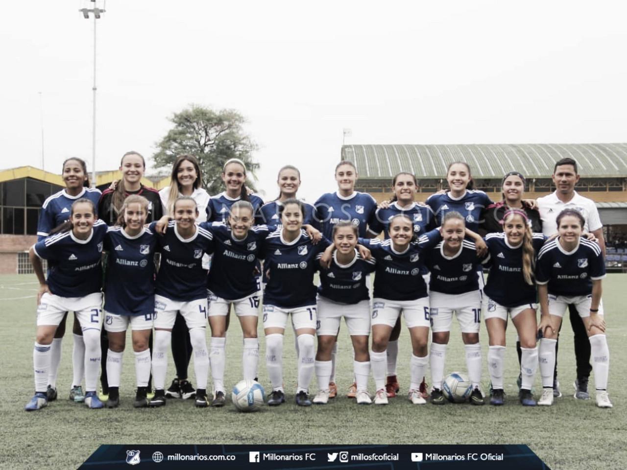 El equipo femenino de Millonarios derrotó 2-1 a la Selección del Meta