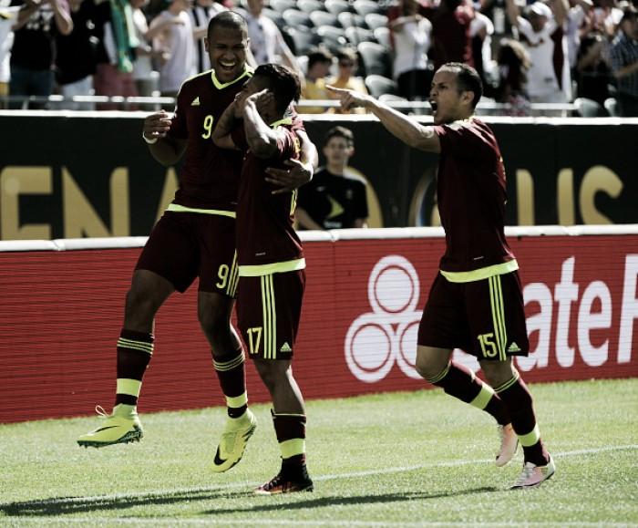 Venezuela vence Jamaica pelo placar mínimo em jogo movimentado