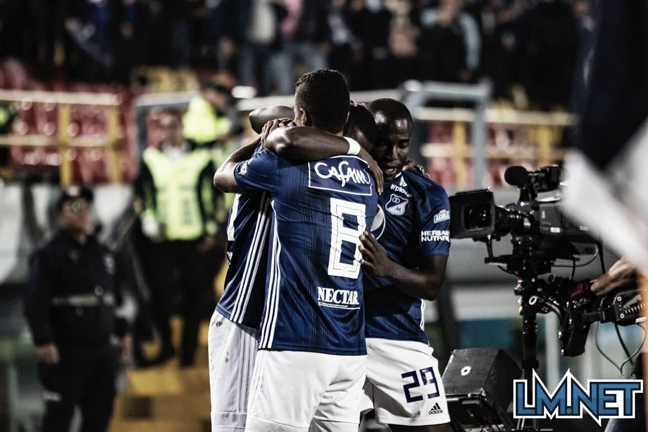 Millonarios vs Independiente Medellín, puntuación azul