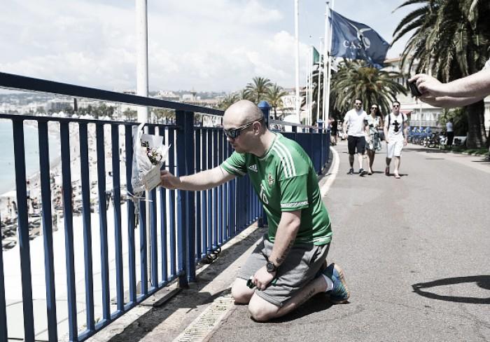 Torcedor da Irlanda do Norte morre após cair de uma altura de oito metros em Nice