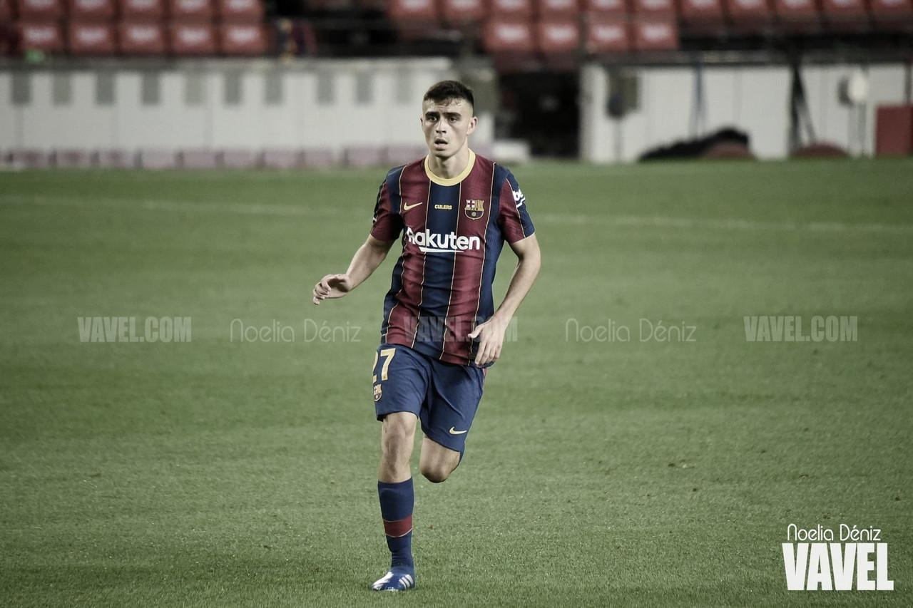 Un año del debut de Pedri con el Barça