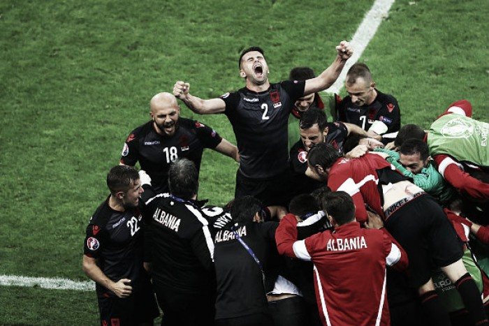 Romania 0-1 Albania: Sadiku the hero as Eagles celebrate first win