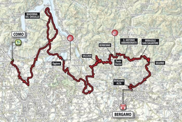 Ciclismo, Lombardia 2016 - Percorso duro