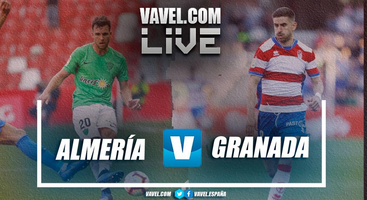 Resumen Almería 0-0 Granada CF en La Liga 123 2019
